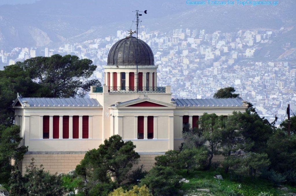 Το Εθνικό Αστεροσκοπείο Αθηνών, στο λόφο Νυμφών