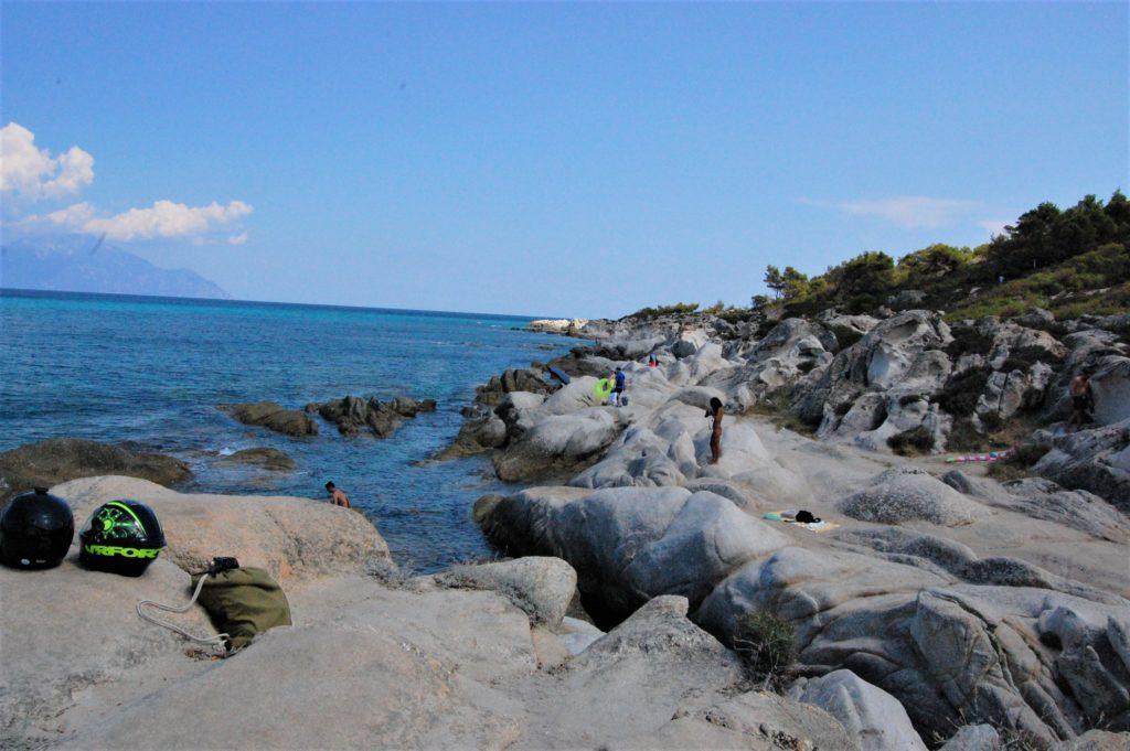 Μέρος Παραλίας για γυμνιστές στις Καβουρότρυπες - Χαλκιδική