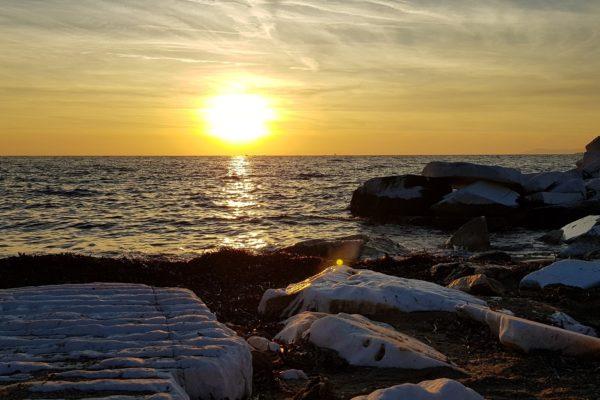 Ηλιοβασίλεμα στη Θάσο